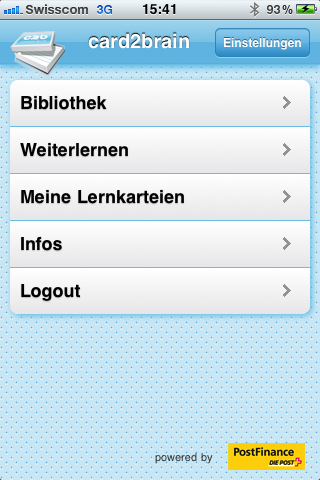 Mobiles Lernen: card2brain Bibliothek